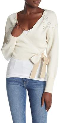 Wildfox Couture Wilder Mock Pearl Wrap Shirt