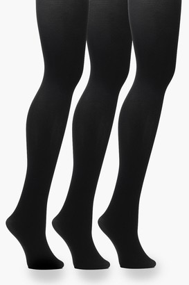 boohoo Plus 60 Denier 3 Pack Tights