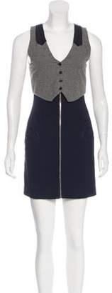 Alexander Wang Silk-Lined Mini Dress