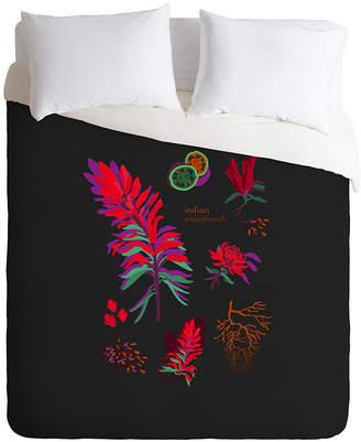 Deny Designs Holli Zollinger Desert Botanical Indian Paintbrush Queen Duvet Set Bedding