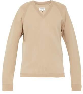 Maison Margiela V Neck Sweater - Mens - Beige