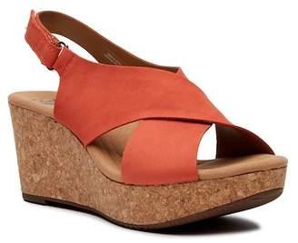 Clarks Annadel Eirwyn Leather Wedge Sandal