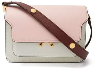 Marni Trunk Mini Leather Cross Body Bag - Womens - Pink Multi