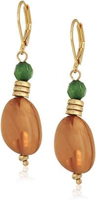 The Sak Double Bead Drop Earrings