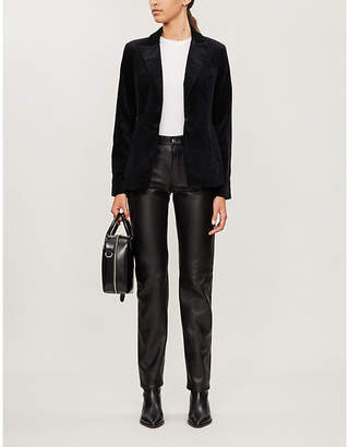 J Brand Lyvia slim-fit velvet blazer
