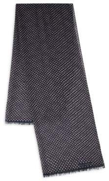 Valentino Fray-Trimmed Printed Scarf