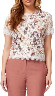 Dex Lace Short-Sleeve Top