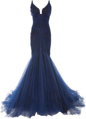 Zac Posen Tulle Mermaid Gown