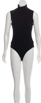 Karl Lagerfeld Wool Sleeveless Bodysuit