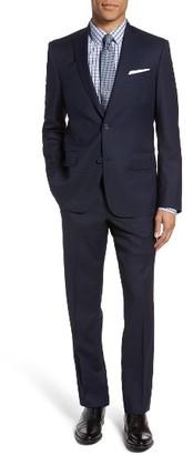 Men's Nordstrom Men's Shop Trim Fit Solid Wool Suit $499 thestylecure.com
