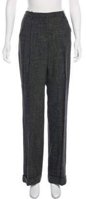 Robert Rodriguez Wool-Linen Wide-Leg Pants