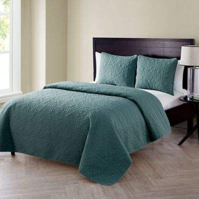 VCNY home VCNY Home Caroline Embossed Twin Quilt Set in Sage