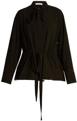 Marni Tie-neck crepe blouse