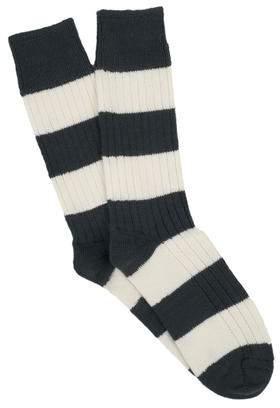 Corgi Cotton Rugby Stripe Socks in Maroon