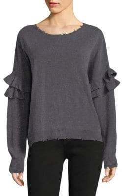 Current/Elliott Frayed Ruffle Sweater
