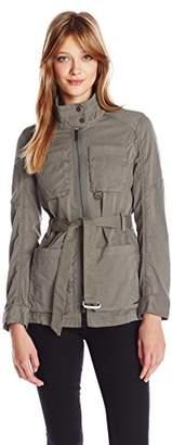 Calvin Klein Jeans Women's Belted Field Jacket $148 thestylecure.com