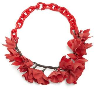 Isabel Marant Honolulu Flower Necklace - Womens - Red