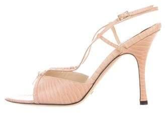 Alexandra Neel Embossed Slingback Sandals