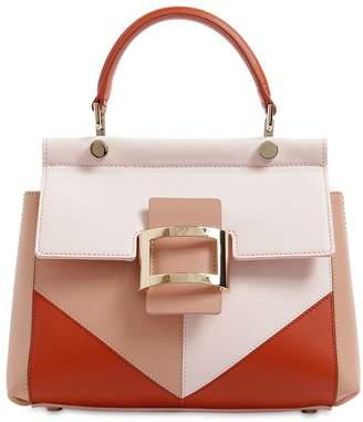 Roger Vivier Mini Viv Leather Top Handle Bag