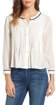 Women's Velvet By Graham & Spencer Pintuck Pleat Blouse $169 thestylecure.com