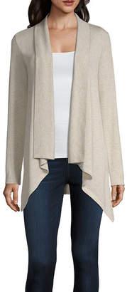 Liz Claiborne Stripe Knit Cardigan- Plus