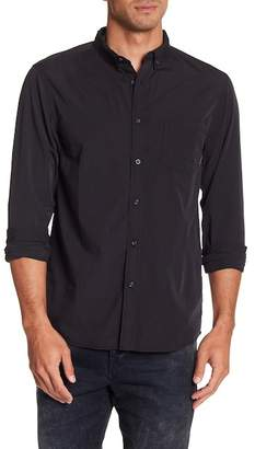 Quiksilver Front Button Solid Modern Fit Woven Shirt