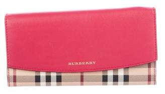 Burberry Haymarket Check Porter Continental Wallet