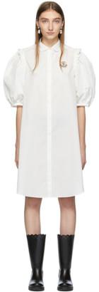Simone Rocha Moncler Genius 4 Moncler White Shirt Dress