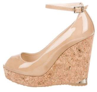 Jimmy Choo Platform Peep-Toe Wedges