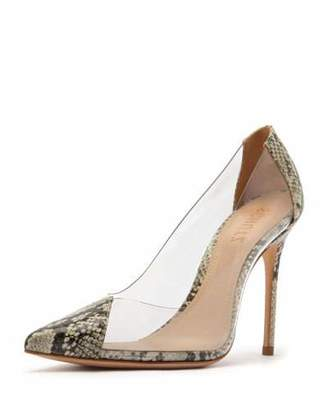 Schutz Cendi See-Through Vinyl & Leather Pumps