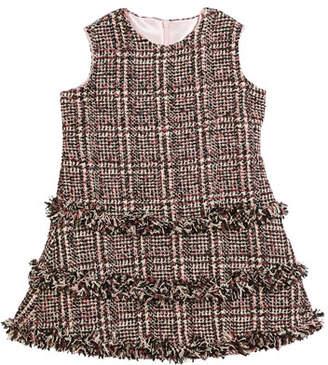 Helena Tweed Fringe A-Line Dress, Size 7-14