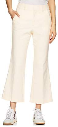 Frame Women's Linen-Cotton Flared Trousers