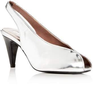 Carel Women's Saturne Metallic Slingback Peep Toe Pumps