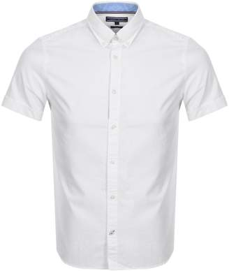 Tommy Hilfiger Short Sleeve Oxford Shirt White