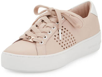 MICHAEL Michael Kors Poppy Perforated Leather Low-Top Sneaker $125 thestylecure.com
