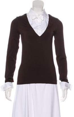 Wolford Mock Button-Up top Sweater