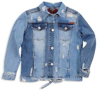 7 For All Mankind Girls' Distressed Denim Jacket - Little Kid