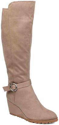 Journee Collection Veronica Wide Calf Wedge Boot - Women's