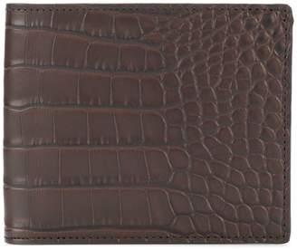 Pineider crocodile effect billfold wallet