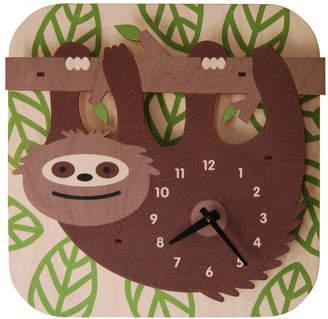Modern Moose Sloth Wall Clock