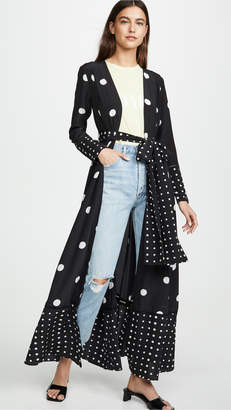 Leone We Are Contrast Polka Dot Maxi Cardigan