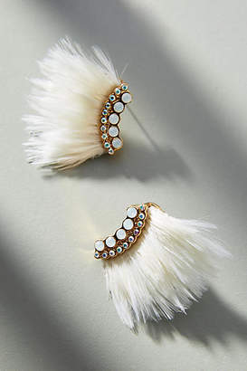 Mignonne Gavigan Mini Luxe Madeline Feather Post Earrings