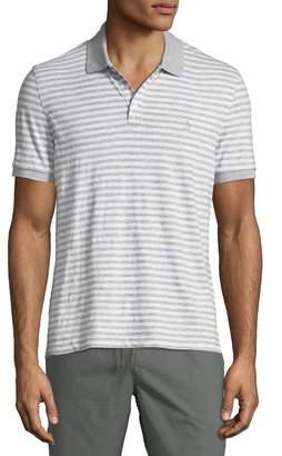 Original Penguin Men's Feeder-Stripe Slub Polo Shirt