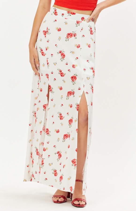 Lottie Moss Double Slit Maxi Skirt