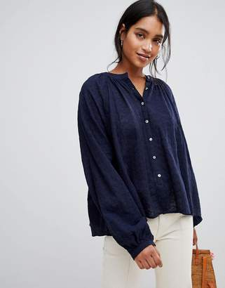 Free People Down From The Clouds Broderie Anglaise Blouse