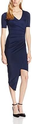 boohoo Women's ASYMETRIC RUCHED SIDE MIDI Dress