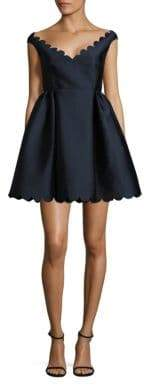 RED Valentino Scalloped A-Line Dress