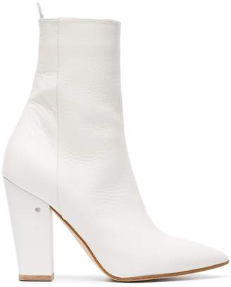 Laurence Dacade White Maia 100 Leather Ankle Boots