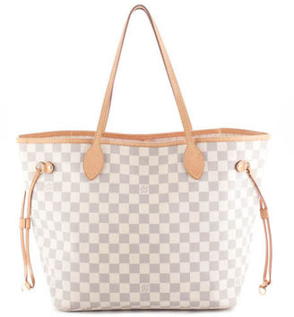 LOUIS VUITTON Coated Canvas Damier Azur Neverfull MM Tote Handbag BP2258 MHL $1,299 thestylecure.com
