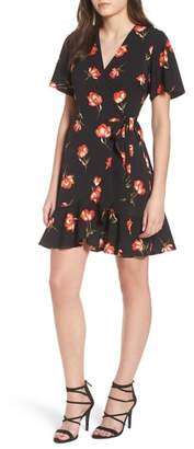 Lush Lucy Floral Wrap Dress